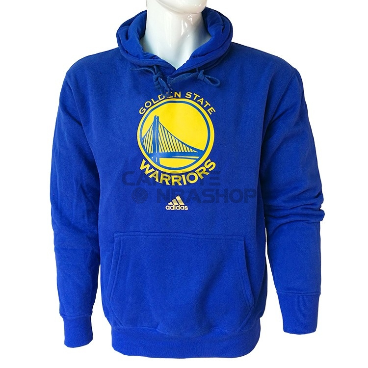 Vendite Felpe Con Cappuccio NBA Golden State Warriors Blu City