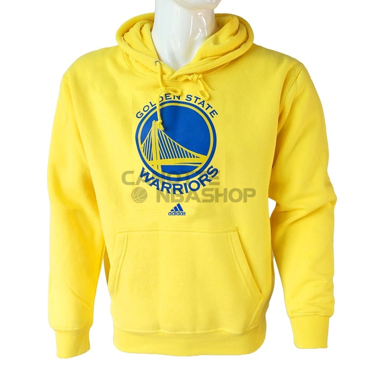 Vendite Felpe Con Cappuccio NBA Golden State Warriors Giallo City