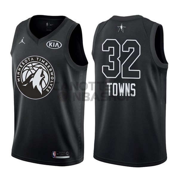 Vendite Maglia NBA 2018 All Star NO.32 Karl Anthony Towns Nero