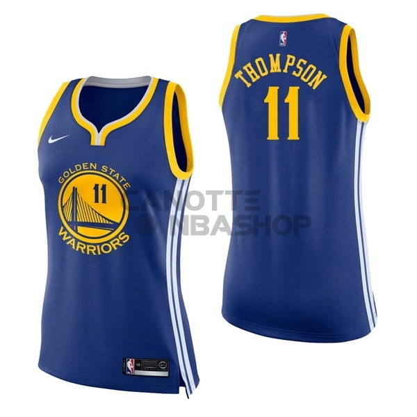 Vendite Maglia NBA Donna Golden State Warriors NO.11 Klay Thompson Blu Icon