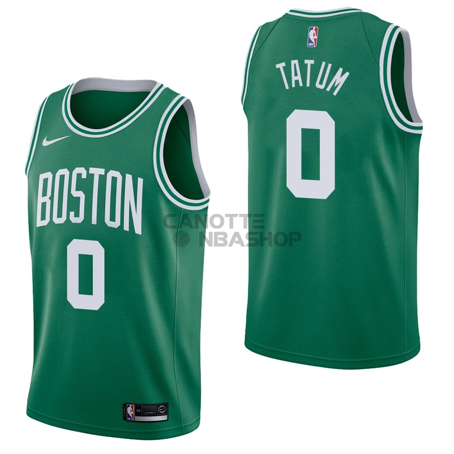 Vendite Maglia NBA Nike Boston Celtics NO.0 Jayson Tatum Verde Icon