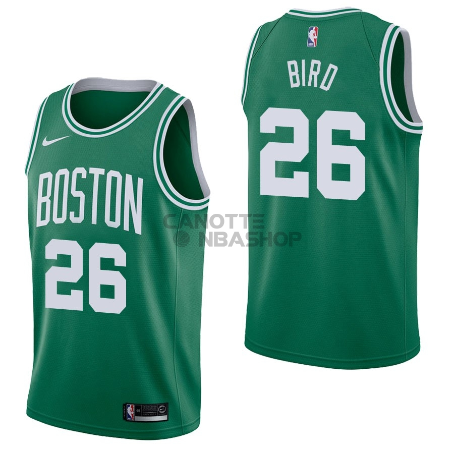 Vendite Maglia NBA Nike Boston Celtics NO.26 Jabari Bird Verde Icon