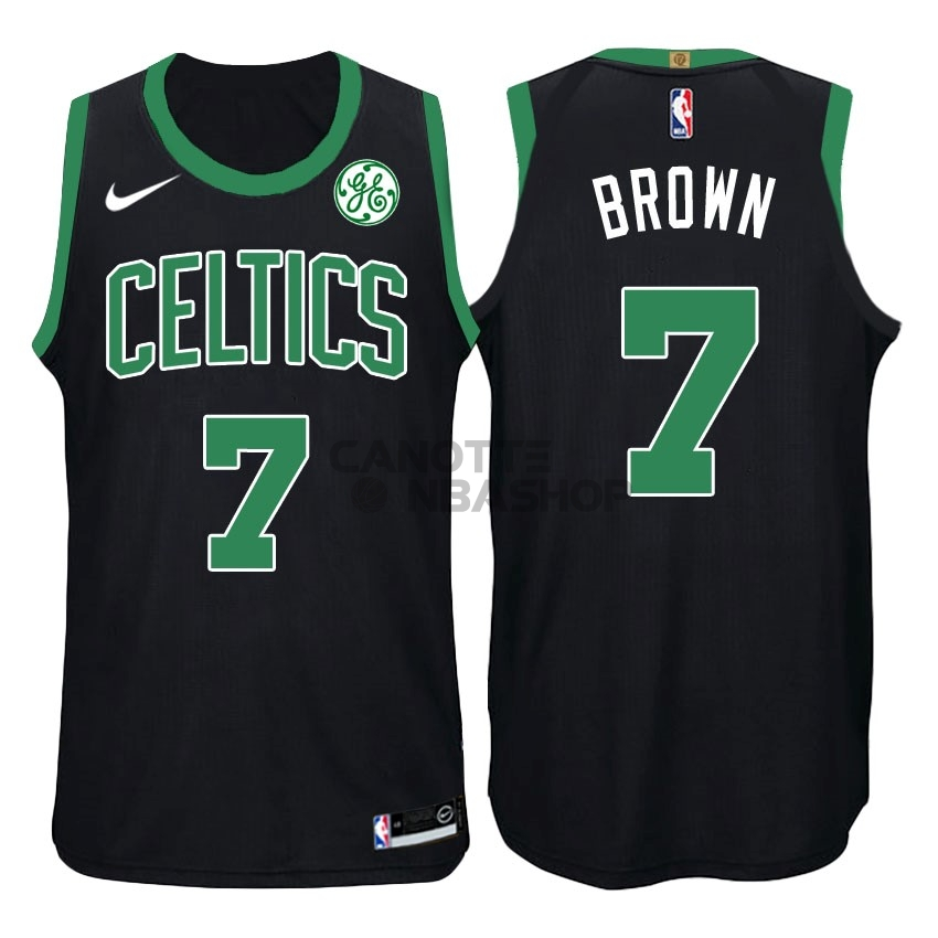 Vendite Maglia NBA Nike Boston Celtics NO.7 Jaylen Brown Nero
