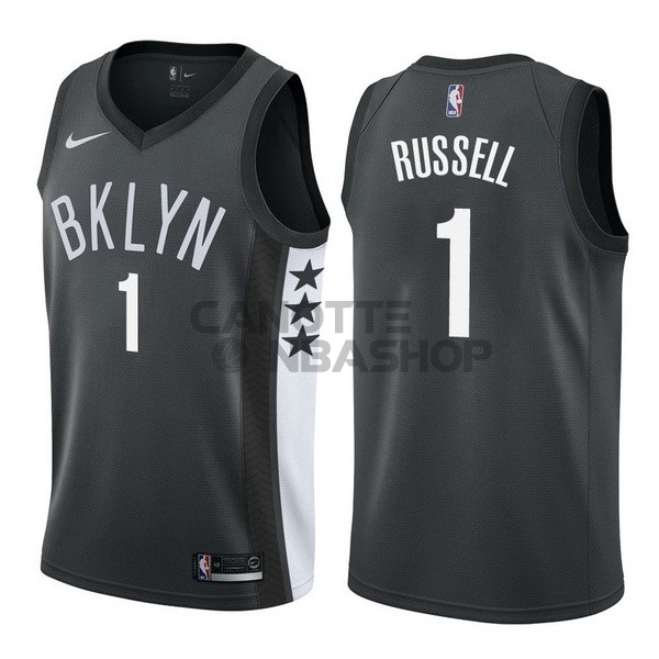 Vendite Maglia NBA Nike Brooklyn Nets NO.1 D'Angelo Russell Nero Statement