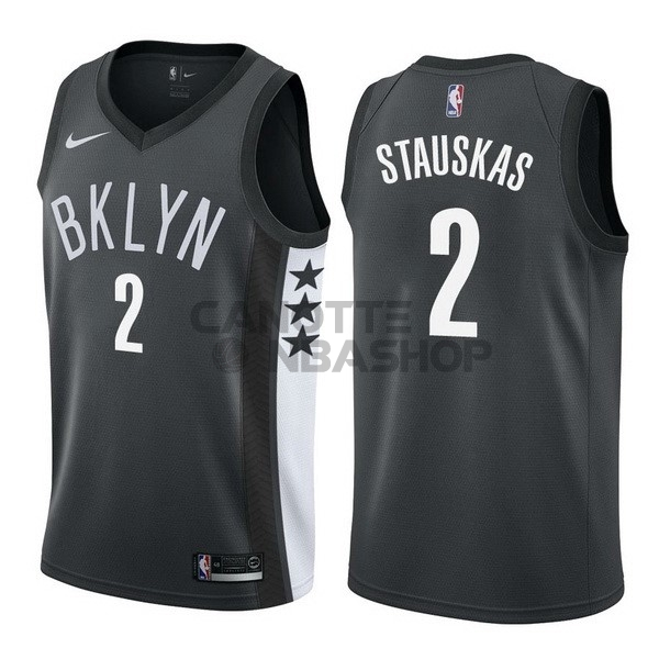 Vendite Maglia NBA Nike Brooklyn Nets NO.2 Akil Mitchell Nero Statement