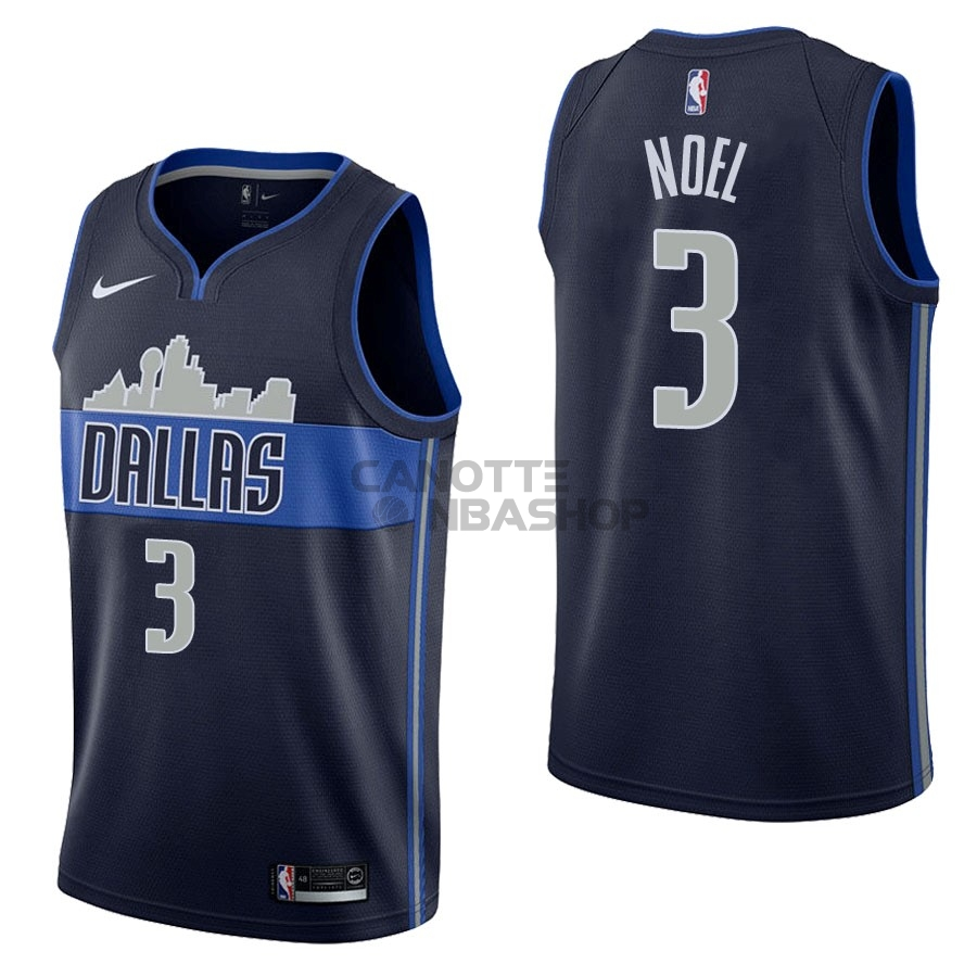Vendite Maglia NBA Nike Dallas Mavericks NO.3 Nerlens Noel Nero Statement