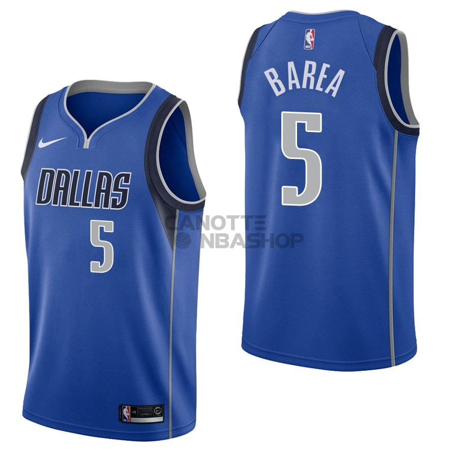 Vendite Maglia NBA Nike Dallas Mavericks NO.5 J.J. Barea Blu Icon