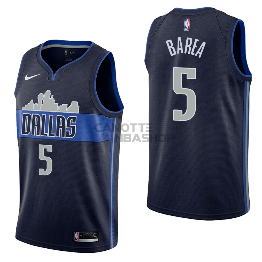 Vendite Maglia NBA Nike Dallas Mavericks NO.5 J.J. Barea Nero Statement