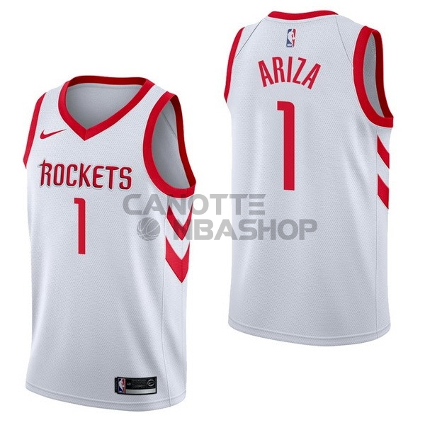 Vendite Maglia NBA Nike Houston Rockets NO.1 Trevor Ariza Bianco Association