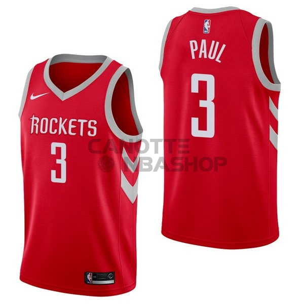 Vendite Maglia NBA Nike Houston Rockets NO.3 Chris Paul Rosso Icon