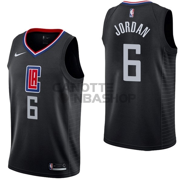 Vendite Maglia NBA Nike Los Angeles Clippers NO.6 DeAndre Jordan Nero Statement