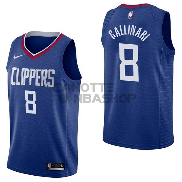Vendite Maglia NBA Nike Los Angeles Clippers NO.8 Danilo Gallinari Blu Icon