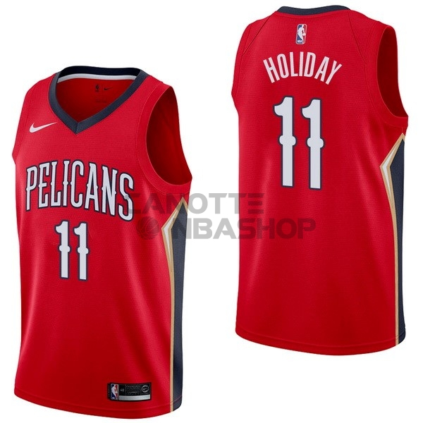 Vendite Maglia NBA Nike New Orleans Pelicans NO.11 Jrue Holiday Rosso Statement