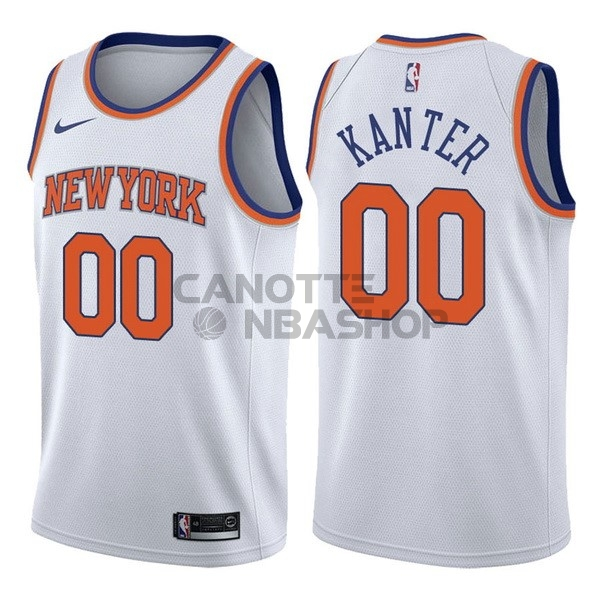 Vendite Maglia NBA Nike New York Knicks NO.0 Enes Kanter Bianco Association