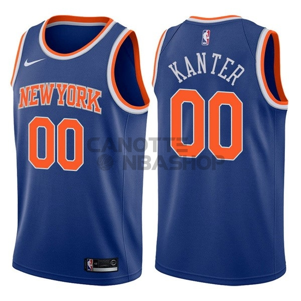Vendite Maglia NBA Nike New York Knicks NO.0 Enes Kanter Blu Icon