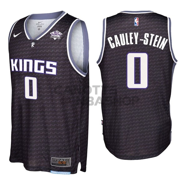 Vendite Maglia NBA Nike Sacramento Kings NO.0 Willie Cauley Stein Nero