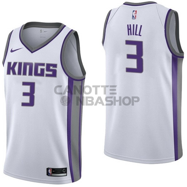 Vendite Maglia NBA Nike Sacramento Kings NO.3 George Hill Bianco Association