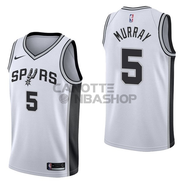 Vendite Maglia NBA Nike San Antonio Spurs NO.5 Dejounte Murray Bianco Association