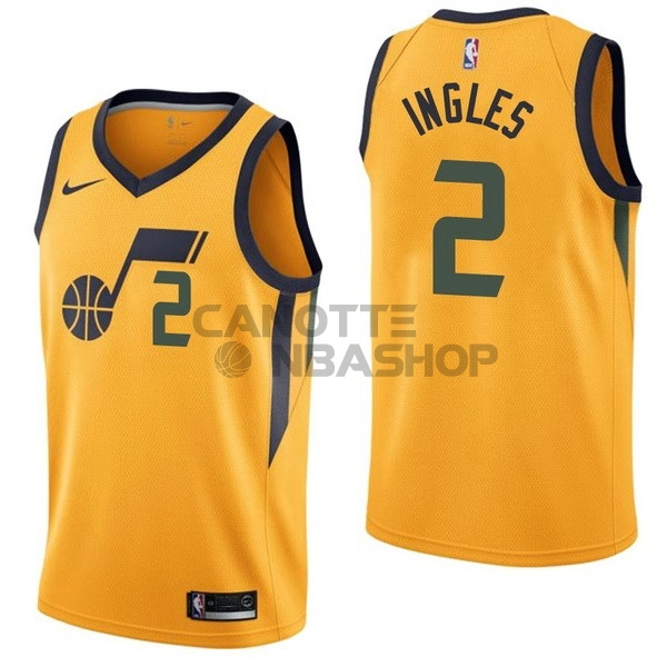 Vendite Maglia NBA Nike Utah Jazz NO.2 Joe Ingles Giallo Statement