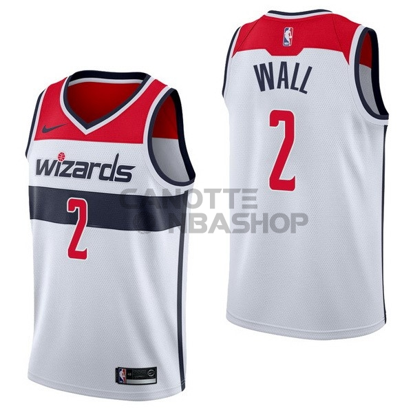 Vendite Maglia NBA Nike Washington Wizards NO.2 John Wall Bianco Association