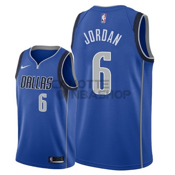 Vendite Maglia NBA Nike Dallas Mavericks NO.6 DeAndre Jordan Blu Icon 2018