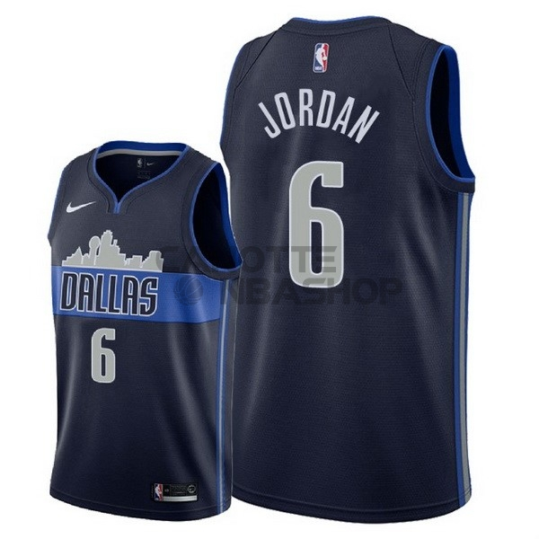 Vendite Maglia NBA Nike Dallas Mavericks NO.6 DeAndre Jordan Nero Statement 2018