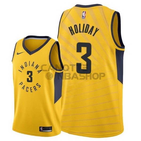 Vendite Maglia NBA Nike Indiana Pacers NO.3 Aaron Holiday Giallo Statement 2018