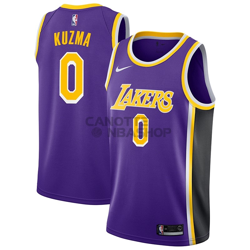 Vendite Maglia NBA Nike Los Angeles Lakers NO.0 Kyle Kuzma Porpora Statement 2018-19