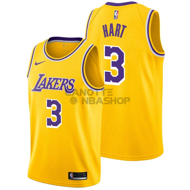 Vendite Maglia NBA Nike Los Angeles Lakers NO.3 Josh Hart Giallo Icon 2018-19