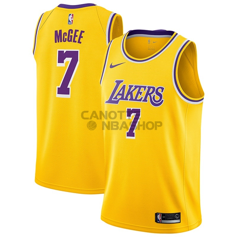 Vendite Maglia NBA Nike Los Angeles Lakers NO.7 JaVale McGee Giallo Icon 2018-19