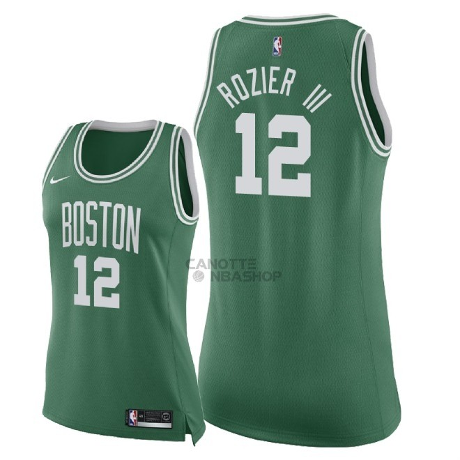 Vendite Maglia NBA Donna Boston Celtics NO.12 Terry Rozier III Verde Icon 2018