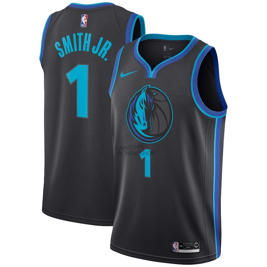 Vendite Maglia NBA Nike Dallas Mavericks NO.1 Dennis Smith Jr Nike Antracite Città 2018-19