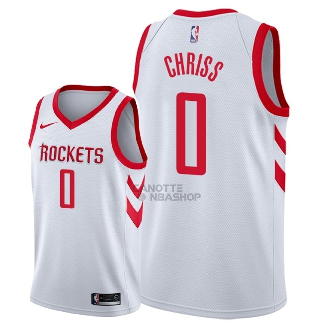 Vendite Maglia NBA Nike Houston Rockets NO.0 Marquese Chriss Bianco Association 2018