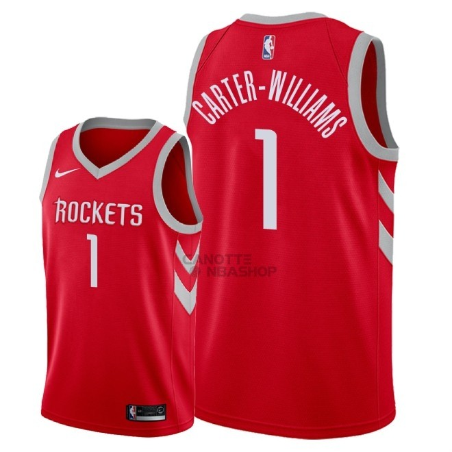 Vendite Maglia NBA Nike Houston Rockets NO.1 Michael Carter Williams Rosso Icon 2018