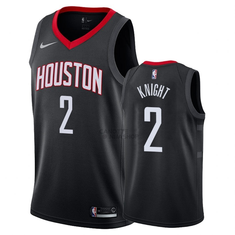 Vendite Maglia NBA Nike Houston Rockets NO.2 Brandon Knight Nero Statement 2018