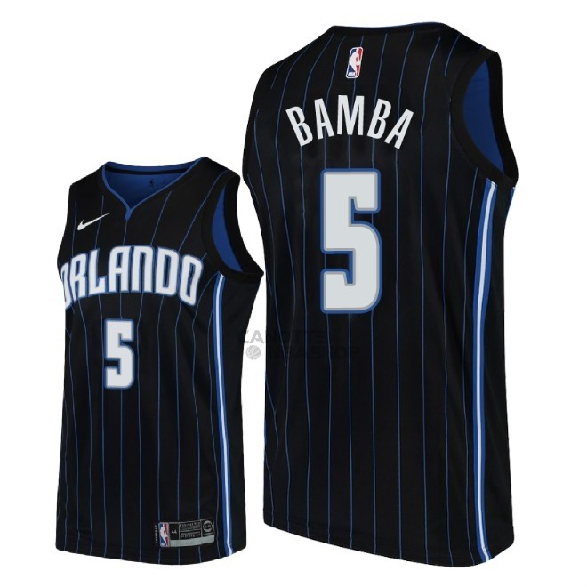 Vendite Maglia NBA Nike Orlando Magic NO.5 Mohamed Bamba Nero Statement 2018