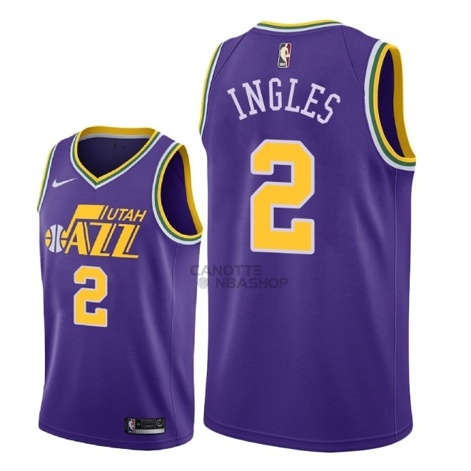 Vendite Maglia NBA Nike Utah Jazz NO.2 Joe Ingles Retro Porpora 2018