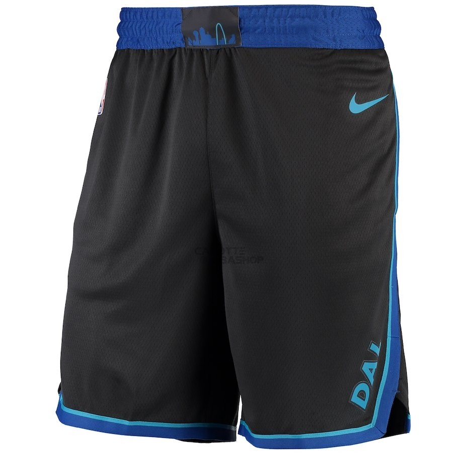 Vendite Pantaloni Basket Dallas Mavericks Nike Antracite Città 2018-19