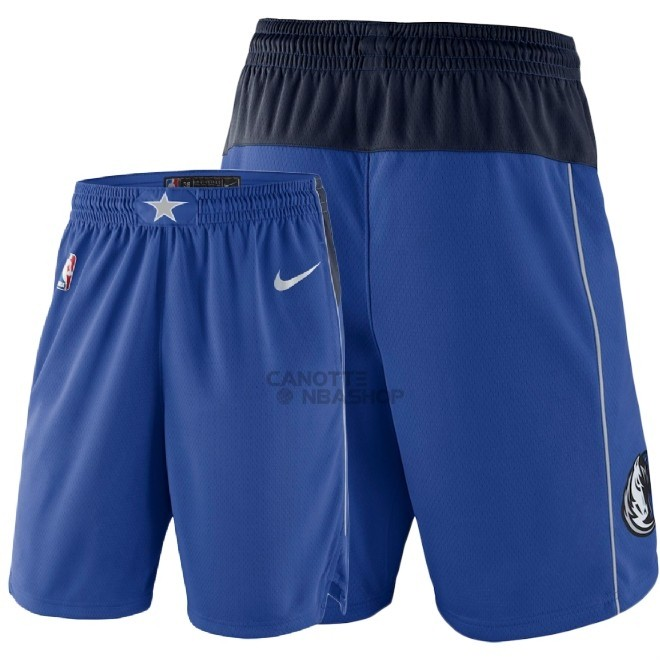 Vendite Pantaloni Basket Dallas Mavericks Nike Blu 2018