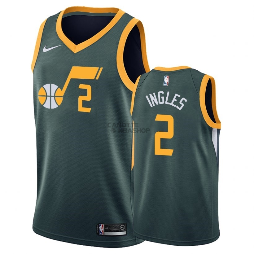 Vendite Maglia NBA Earned Edition Utah Jazz NO.2 Joe ngles Verde 2018-19
