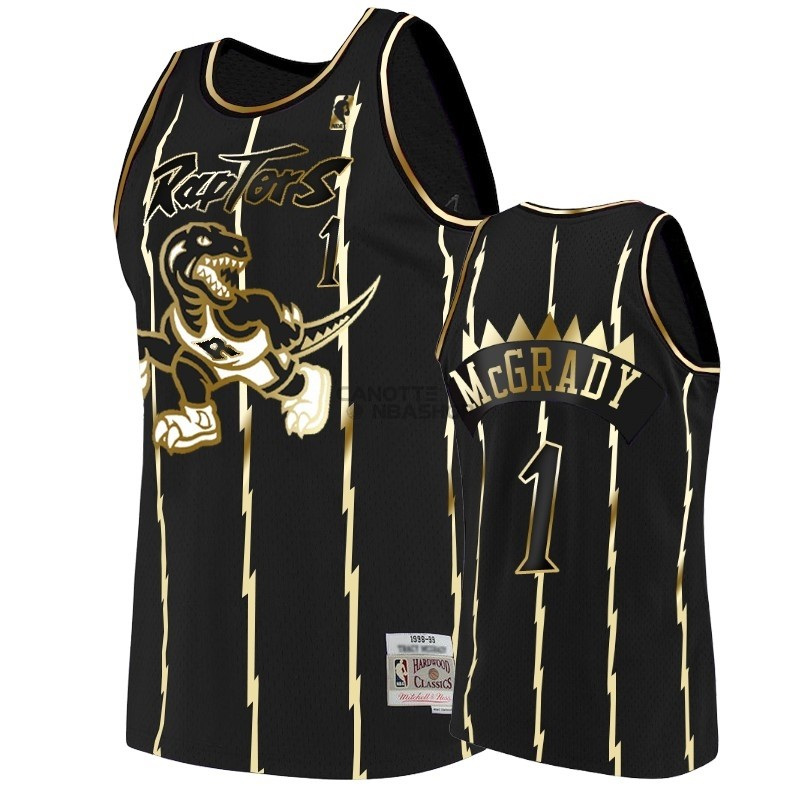 Vendite Maglia NBA Nike Toronto Raptors NO.1 Tracy McGrady Oro Edition