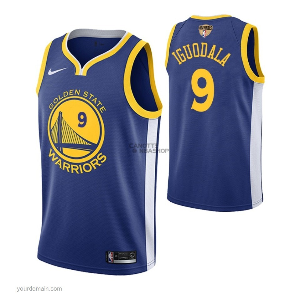 Vendite Maglia NBA Golden State Warriors 2019 Campionato Finali NO.9 Andre Iguodala Blu Icon