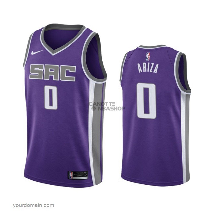 Vendite Maglia NBA Nike Sacramento Kings NO.0 Trevor Ariza Porpora Icon 2019-20