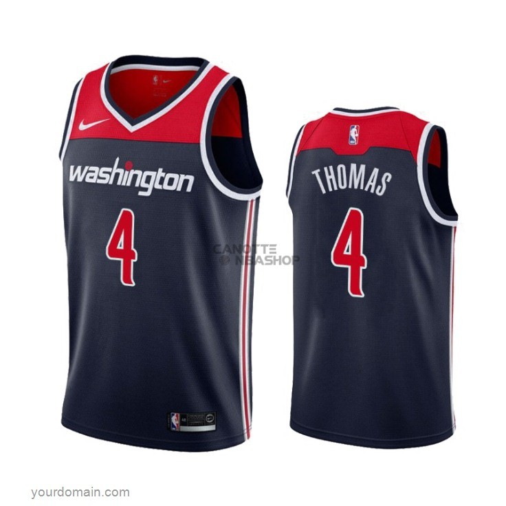 Vendite Maglia NBA Nike Washington Wizards NO.4 Isaiah Thomas Marino Statement 2019-20