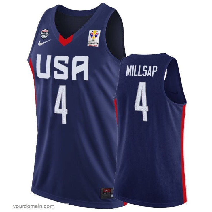 Vendite Coppa Mondo Basket FIBA 2019 USA NO.4 Paul Millsap Marino