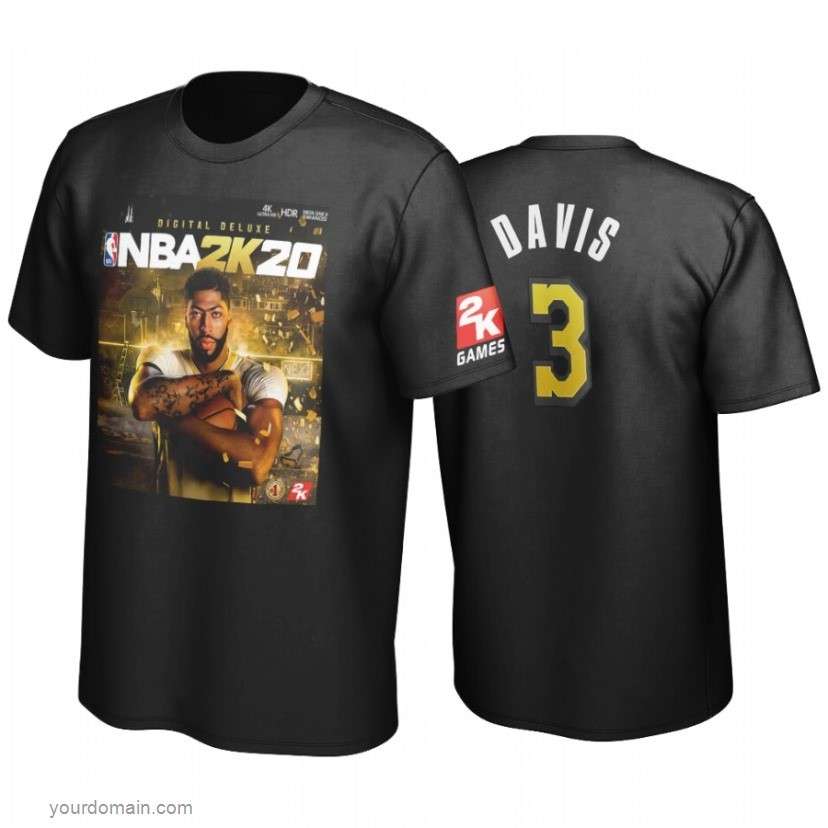 Vendite T-Shirt Golden State Los Angeles Lakers Anthony Davis Nero