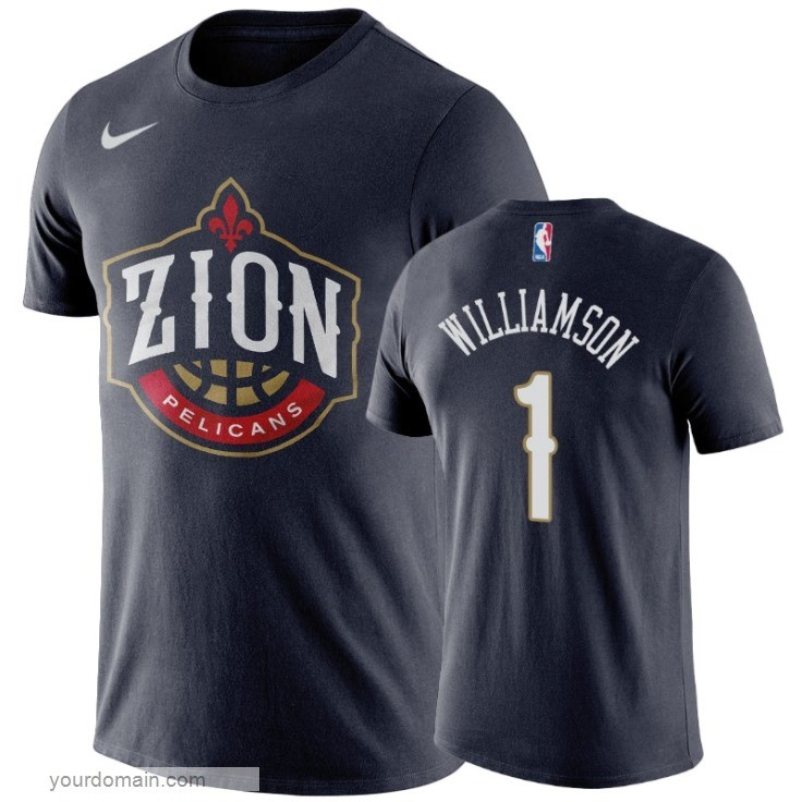 Vendite T-Shirt New Orleans Pelicans Zion Williamson Marino
