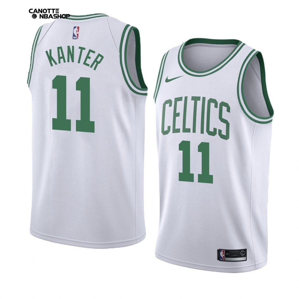 Vendite Maglia NBA Nike Boston Celtics NO.11 Enes Kanter Bianco Association 2019-20
