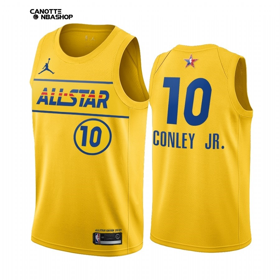 Vendite Maglia NBA 2021 All Star NO.10 Mike Conley Jr. Oro