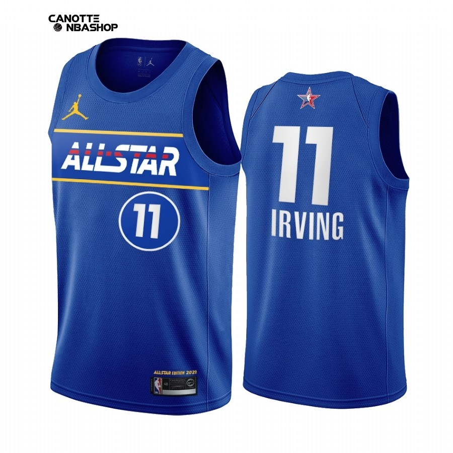 Vendite Maglia NBA 2021 All Star NO.11 Kyrie Irving Blu